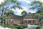 Ranch House Plan Front of Home - 020D-0343 | House Plans and More