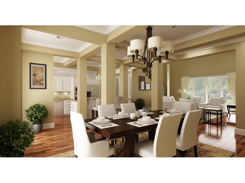 Arts & Crafts House Plan Dining Room Photo 01 - 020D-0344 | House Plans and More