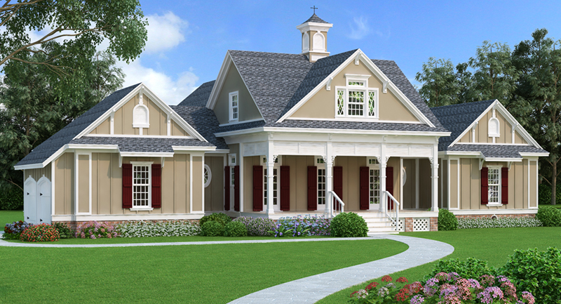 Arts & Crafts House Plan Front of Home - 020D-0344 | House Plans and More