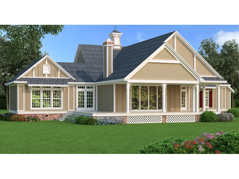 Arts & Crafts House Plan Rear Photo 01 - 020D-0344 | House Plans and More