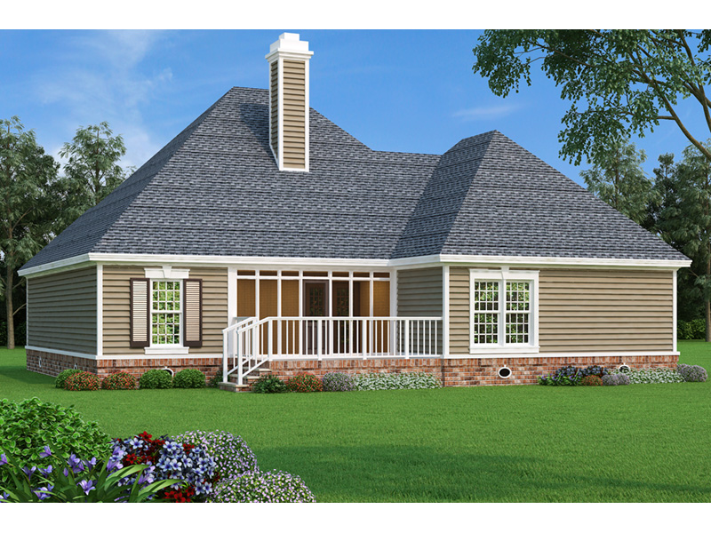 Traditional House Plan Rear Photo 01 - 020D-0345 | House Plans and More