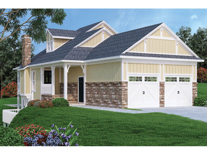 Ranch House Plan Front Photo 02 - 020D-0350 | House Plans and More