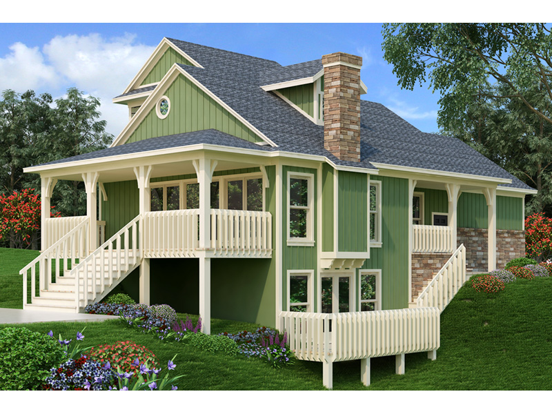 Ranch House Plan Rear Photo 01 - 020D-0350 | House Plans and More