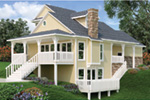 Ranch House Plan Rear Photo 02 - 020D-0350 | House Plans and More