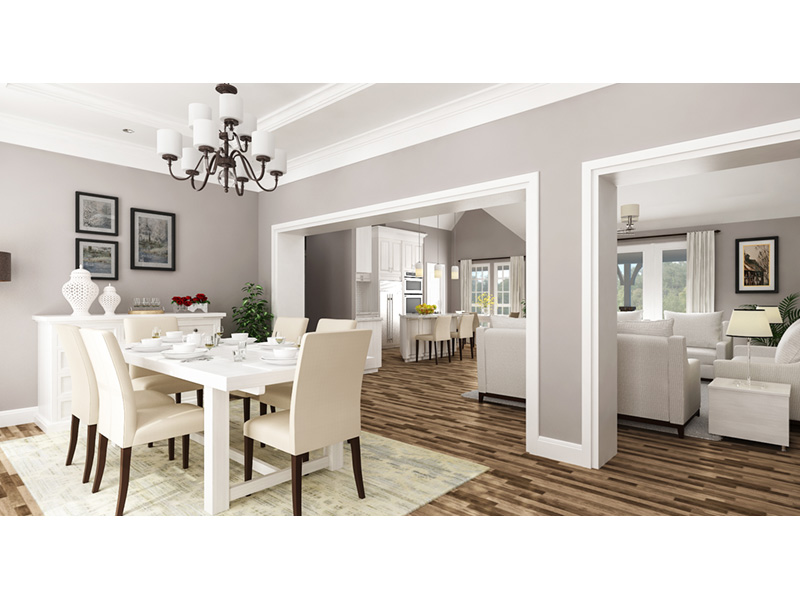 Ranch House Plan Dining Room Photo 02 -  020D-0389   House Plans and More