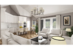 Ranch House Plan Living Room Photo 01 -  020D-0389   House Plans and More