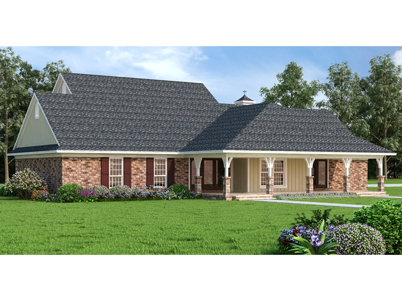 Ranch House Plan Rear Photo 01 -  020D-0389   House Plans and More