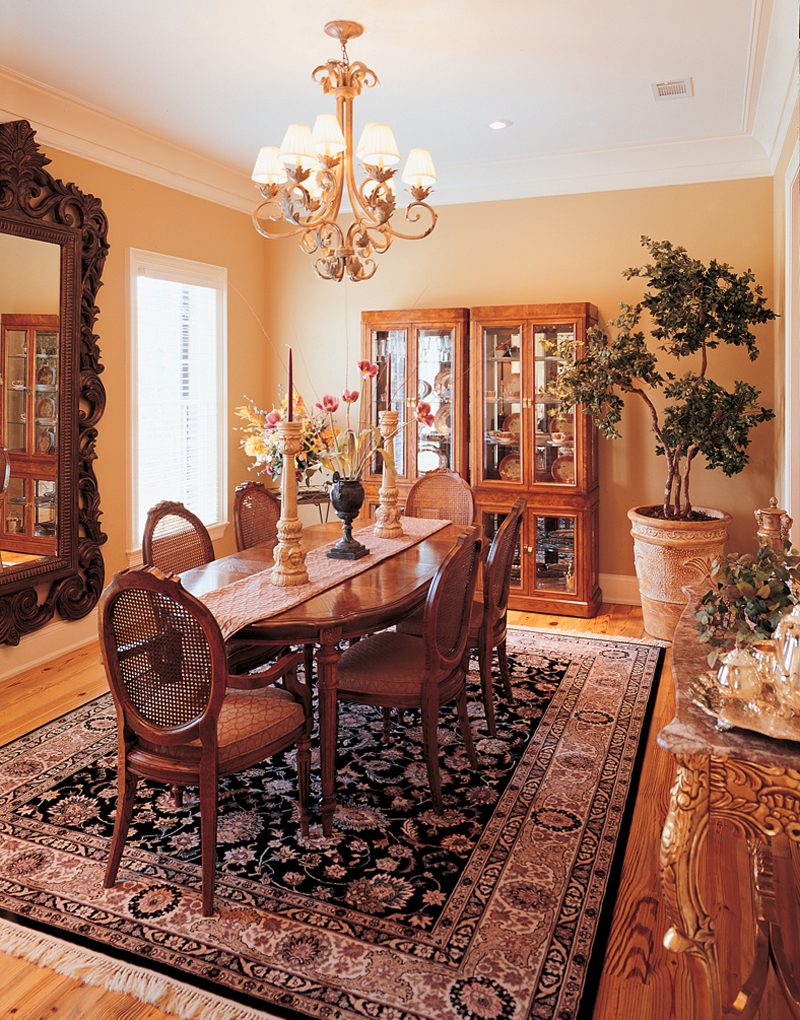 Greek Revival Home Plan Dining Room Photo 01 020S-0001