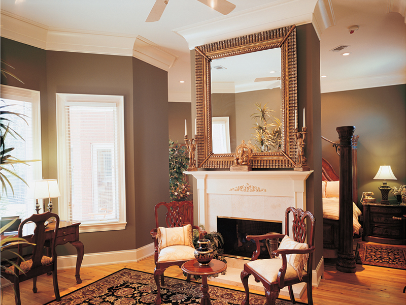 Southern Plantation Plan Fireplace Photo 01 020S-0001