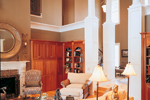 Greek Revival Home Plan Living Room Photo 02 - 020S-0001 | House Plans and More