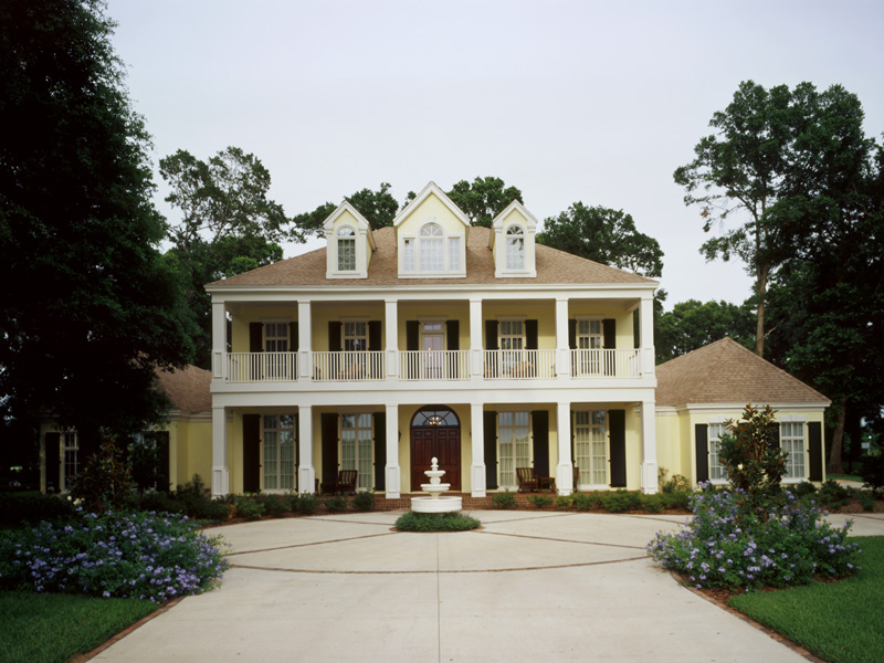 Greek Revival Home Plan Front of Home 020S-0002