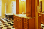 Luxury House Plan Master Bathroom Photo 02 - 020S-0002 | House Plans and More