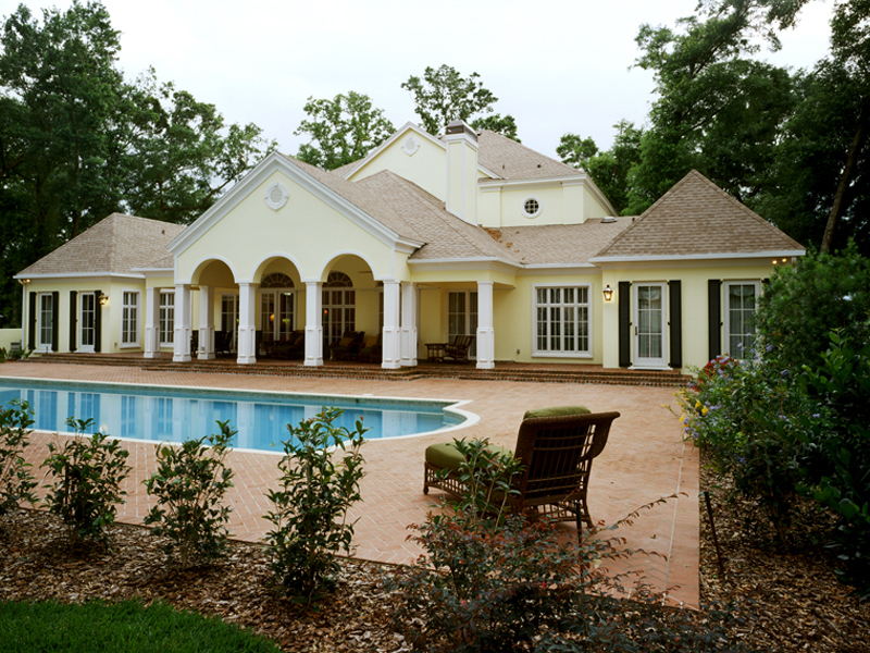 Colonial Floor Plan Pool Photo 020S-0002