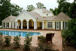 Greek Revival Home Plan Pool Photo - 020S-0002 | House Plans and More