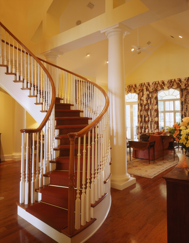 Greek Revival Home Plan Stairs Photo 020S-0002