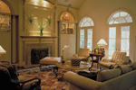 Greek Revival Home Plan Living Room Photo 01 - 020S-0004 | House Plans and More