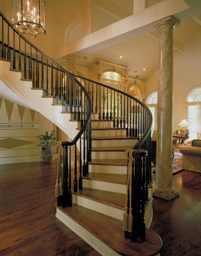 Greek revival house plan stairs photo plan 020s 0004 for House plans with curved staircase