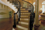 Greek Revival Home Plan Stairs Photo - 020S-0004 | House Plans and More