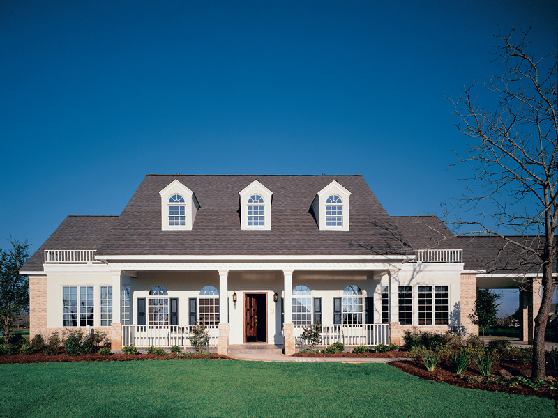 Popular Southern Country Style With Covered Porch