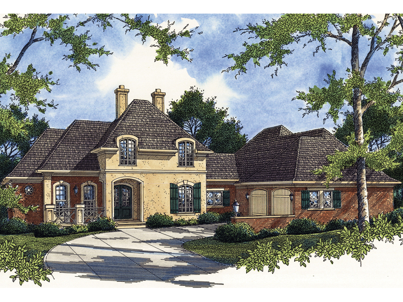 A Luxury Two-Story European Style Chateau