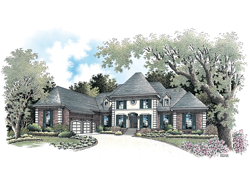 Traditional House Plan Front of Home - 020S-0021 | House Plans and More