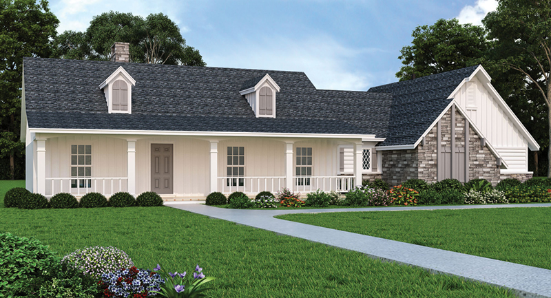 Acadian House Plan Front of Home 021D-0006