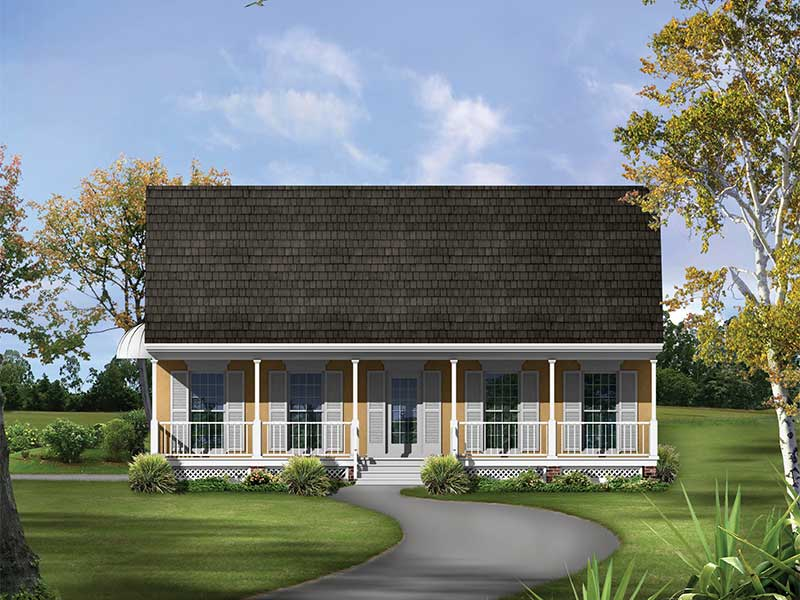 Southern Style Home Has Friendly Front Porch