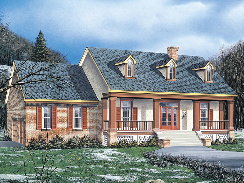 Traditional House Plan Front Image 021D-0011