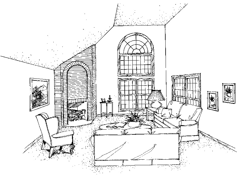 Southern House Plan Living Room Photo 01 - 021D-0020 | House Plans and More