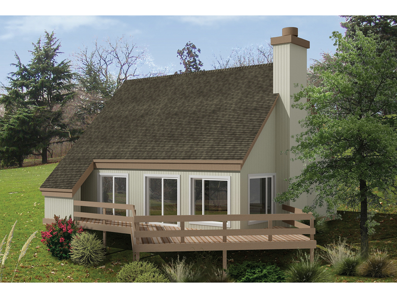 Mountain Home Plan Front of Home - 022D-0001 | House Plans and More