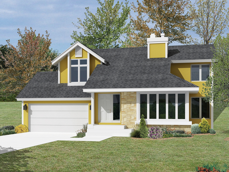 Bungalow House Plan Front Image - 022D-0003 | House Plans and More