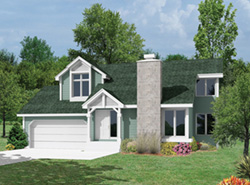 Modern House Plan Front of Home - 022D-0004 | House Plans and More