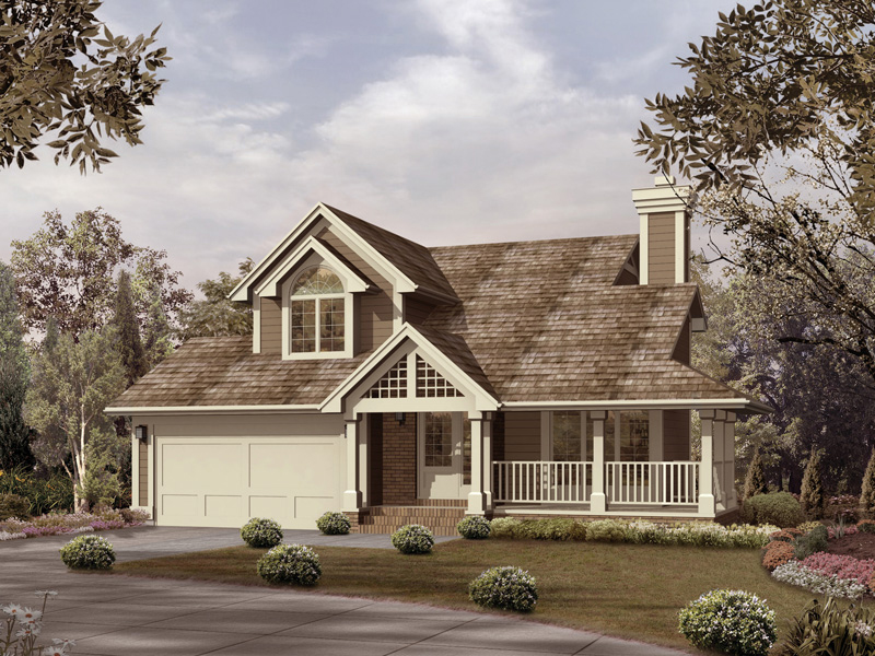 Traditional House Plan Front of Home 022D-0012