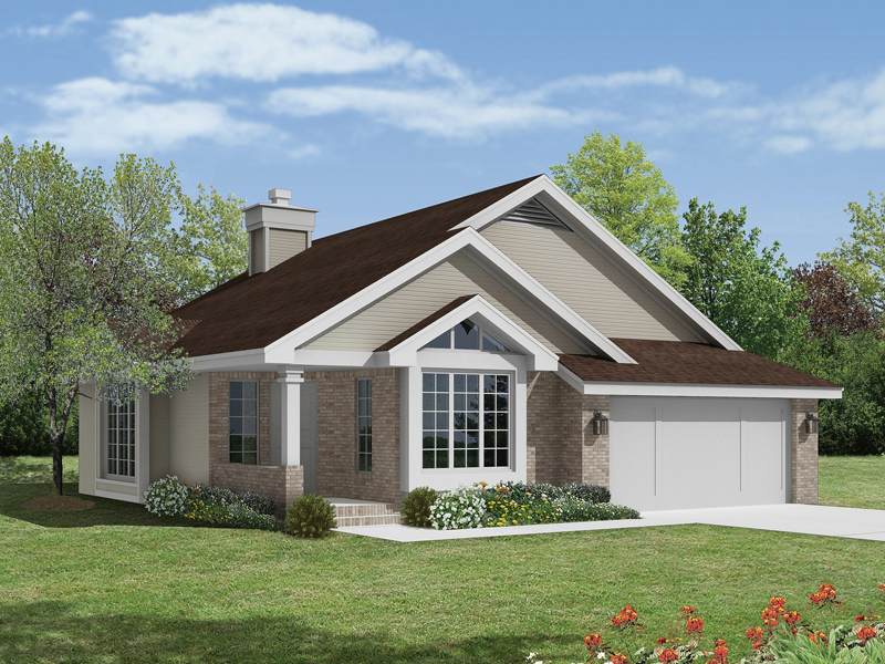 Ranch House Plan Front of Home - 022D-0022 | House Plans and More