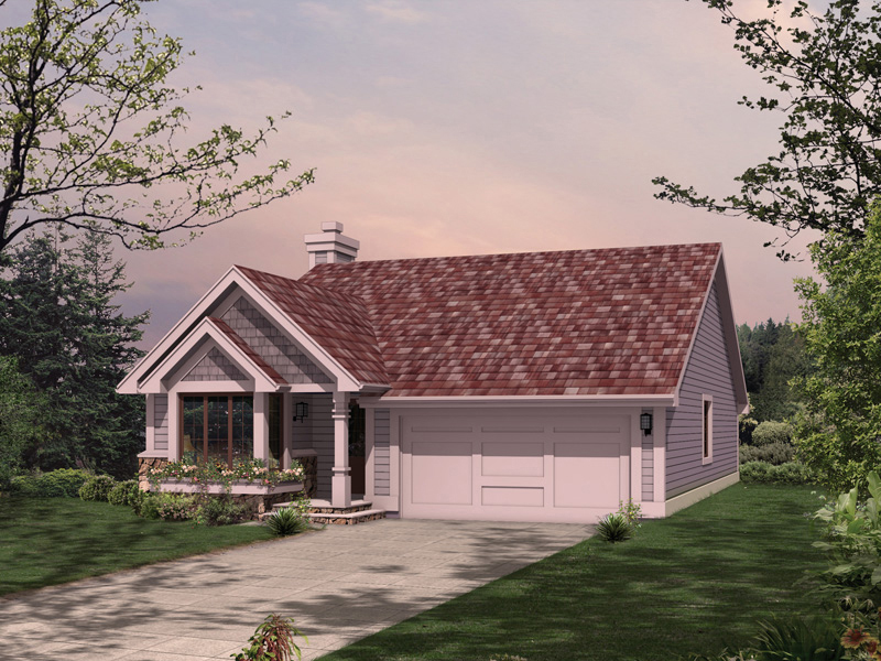 Traditional Ranch With Front Loading Garage