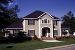 Colonial Floor Plan Front Photo 01 - 023D-0004 | House Plans and More