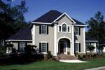 Colonial Floor Plan Front Photo 02 - 023D-0004 | House Plans and More