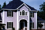 Colonial Floor Plan Front Photo 03 - 023D-0004 | House Plans and More
