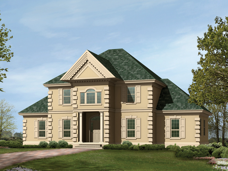 Georgian House Plan Front Photo 05 023D-0004