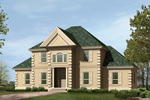 Colonial Floor Plan Front Photo 05 - 023D-0004 | House Plans and More