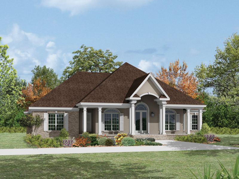 Ranch House Plan Front of Home 023D-0012
