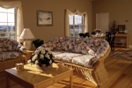 Ranch House Plan Living Room Photo 01 - 023D-0014 | House Plans and More