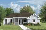 Ranch House Plan Front Photo 01 - 024D-0002 | House Plans and More