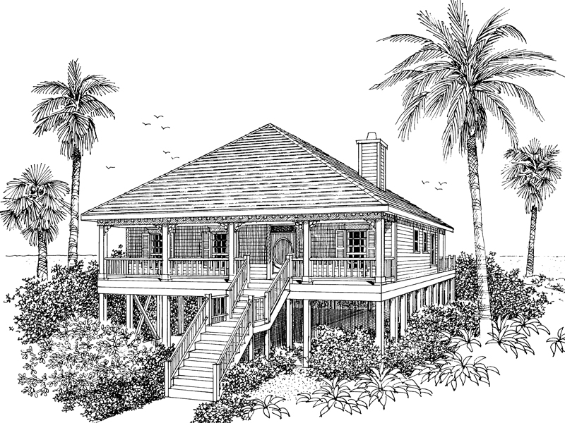 Collier cove beach cottage home plan 024d 0003 house for Beach house designs with wrap around porch
