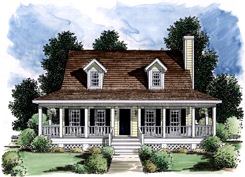 Country House Plan Front of Home 024D-0006