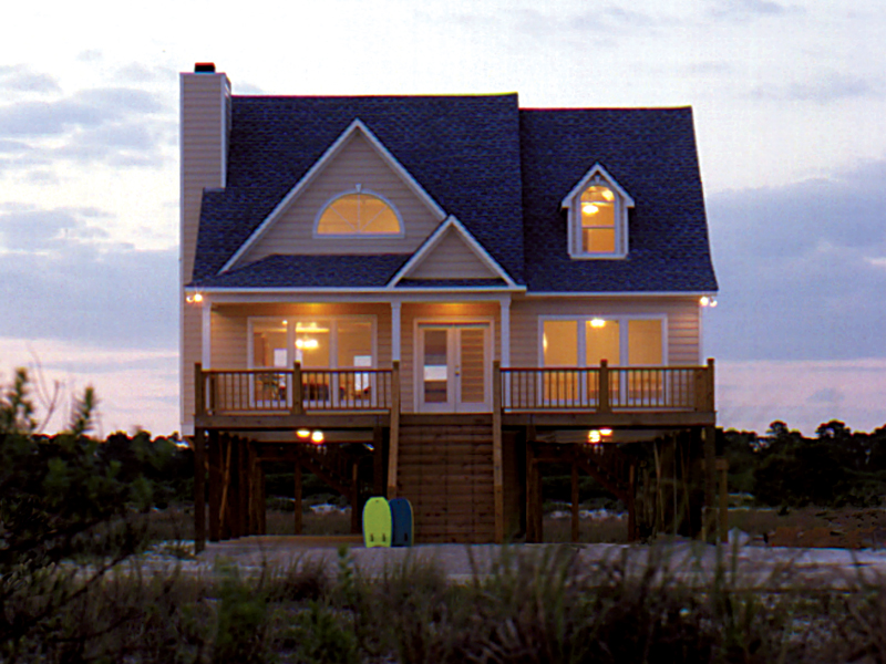 Beach and Coastal House Plan Front of Home 024D-0008