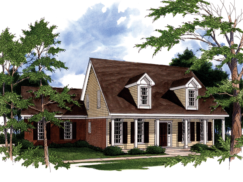 Cape Cod and New England Plan Front Photo 01 - 024D-0014 | House Plans and More
