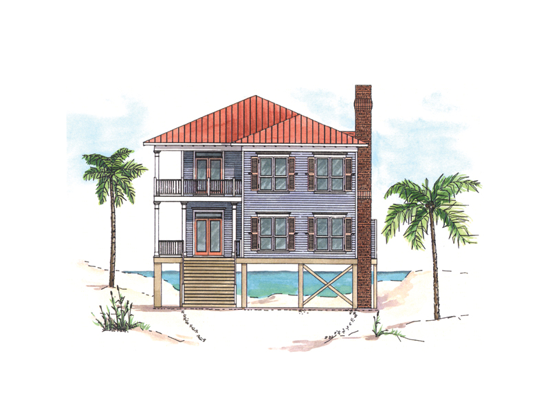 Florida House Plan Front of Home 024D-0015