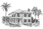 Sunbelt Home Plan Front Image of House - 024D-0015 | House Plans and More
