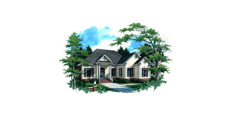 Greek Revival Home Plan Front Image - 024D-0016 | House Plans and More